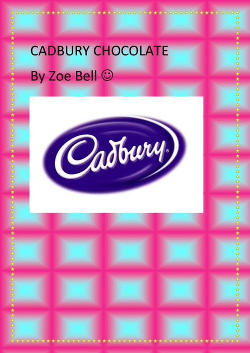 Cadbury chocolate be zoe bell