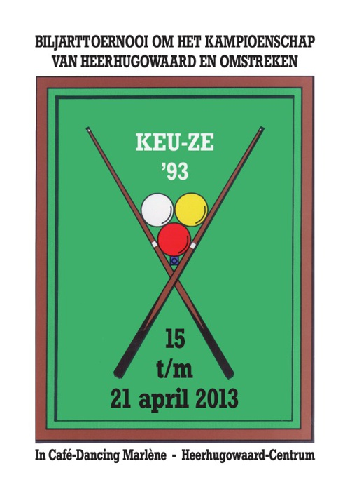 Keu-ze Toernooi 2013