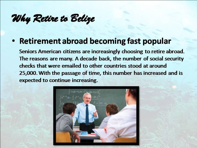 Why Retire to Belize