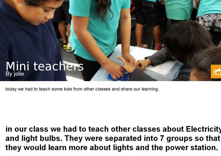 Mini teachers