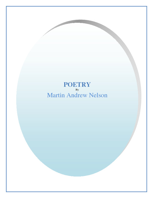 Poetry by Martin Andrew Nelson