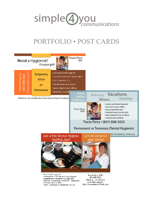 Simple4You Communications - Post Card Samples