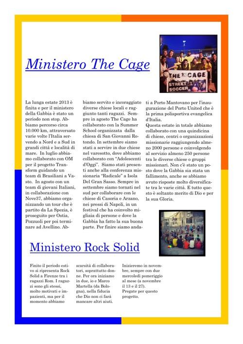Notiziario YFC articolo The Cage , Rock Solid, di Novembre 2013