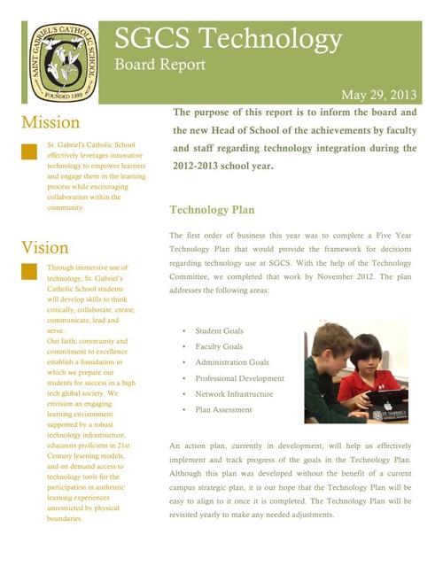 2012-2013 Technology Board Report