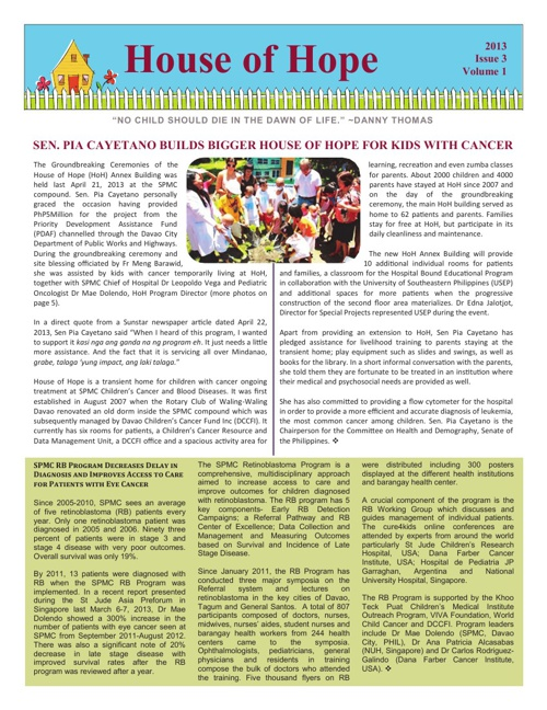 House of Hope Newsletter, 3rd Issue - 2013