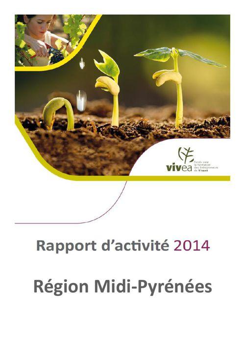 Rapport d'activité VIVEA Midi-Pyrénées 2014