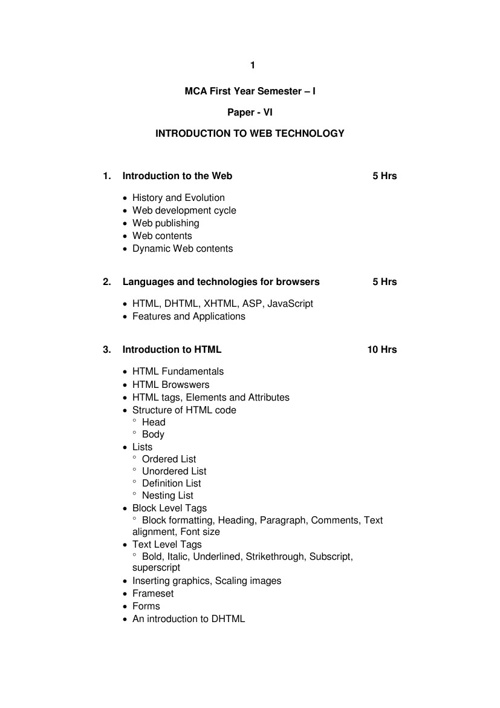 Introduction to WEB Technology!