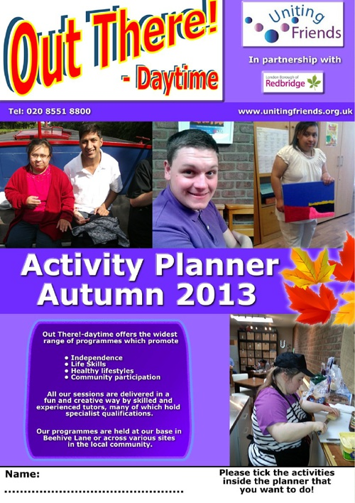 Out There Daytime Planner Autumn 2013