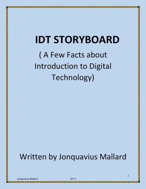 IDT Storyboard URL