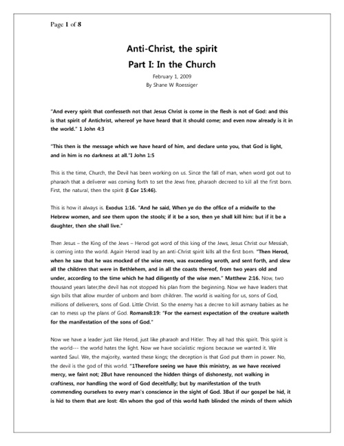 Anti-Christ Spirit: In the Church and In the World System