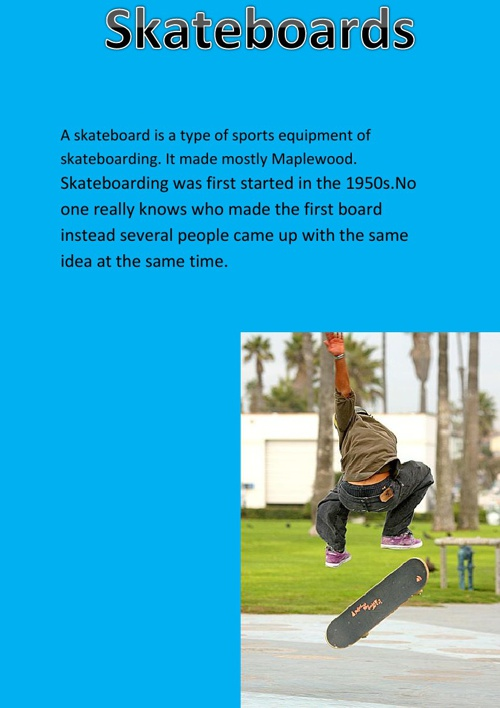 My Book About SkateBoards By Tom Pedersen