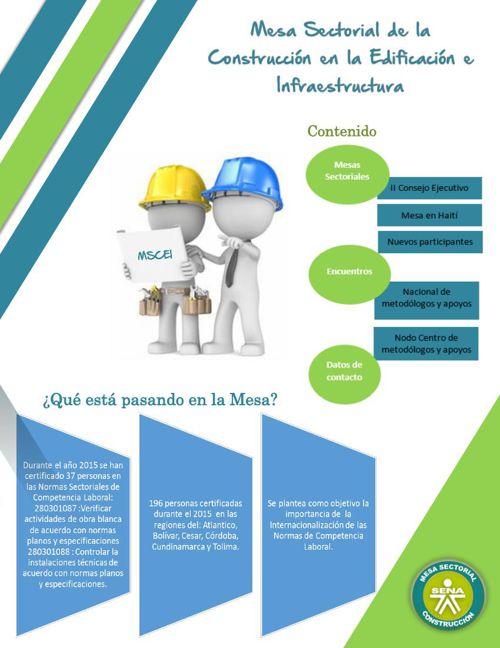 Boletín No. 3 Mesa Sectorial Construcción Edificación e Infraest