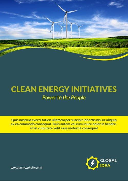 Power Energy Services Brochure Template