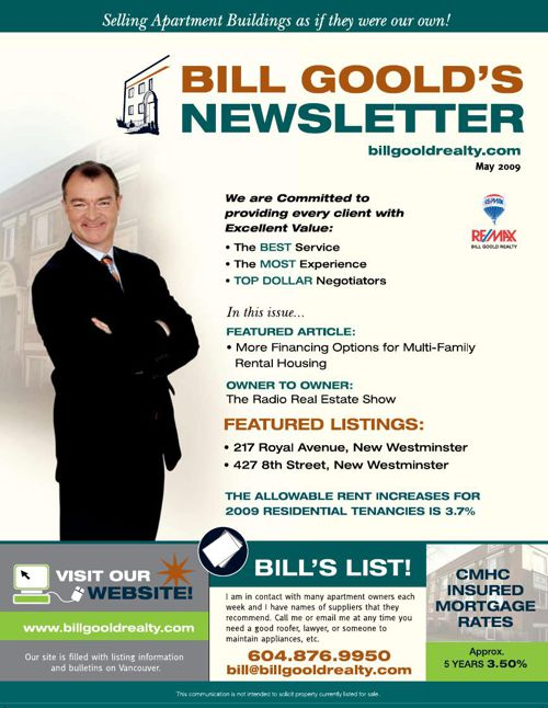 Bill Goold Newsletter May 2009