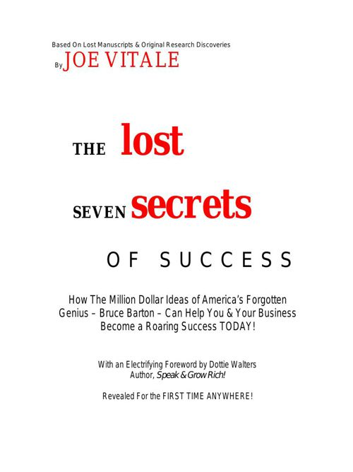 Lost Secrets Of Success
