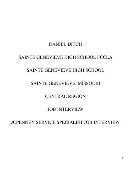 job interview STAR Event portfolio PDF