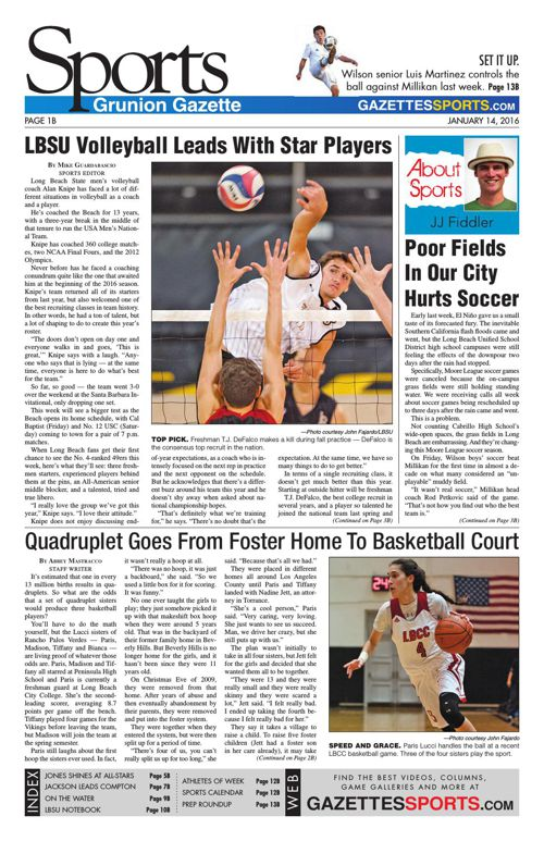 Gazette Sports | January 14, 2016