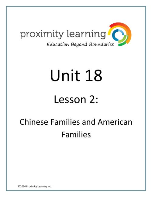 CHN 3 Unit 18 Lesson 2: Chinese Family