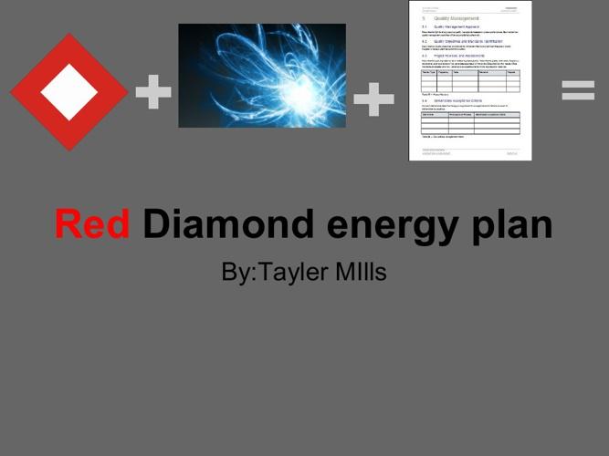 Tayler's #2 Red Dinamond Energy plan