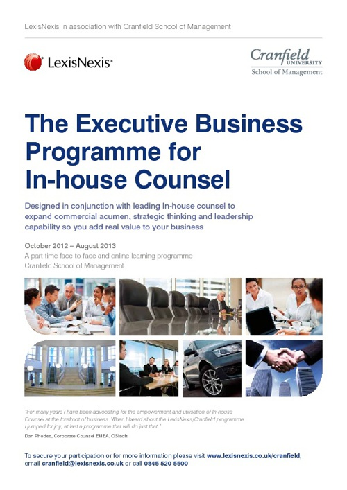 The Executive Business Programme for In-house Counsel