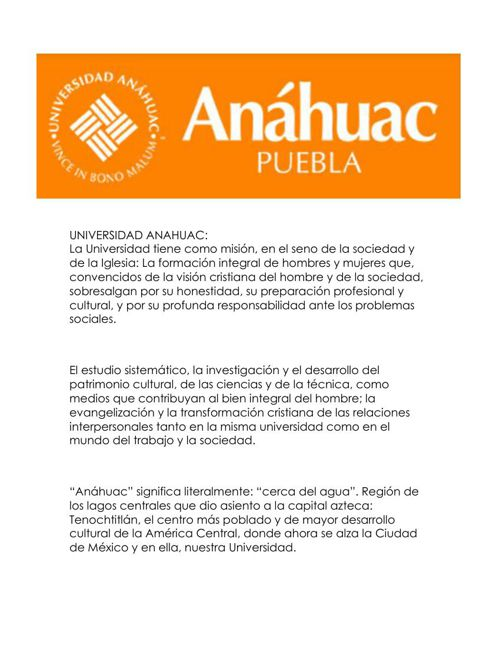 UNIVERSIDAD ANAHUAC..