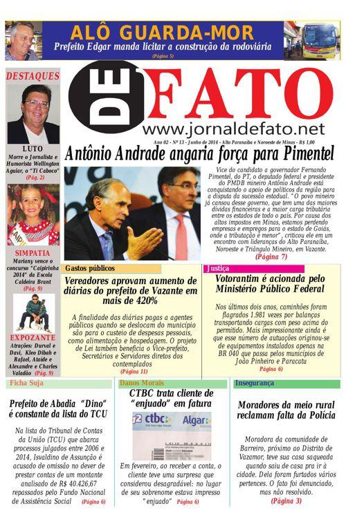 Jornal De Fato 13ª Edição