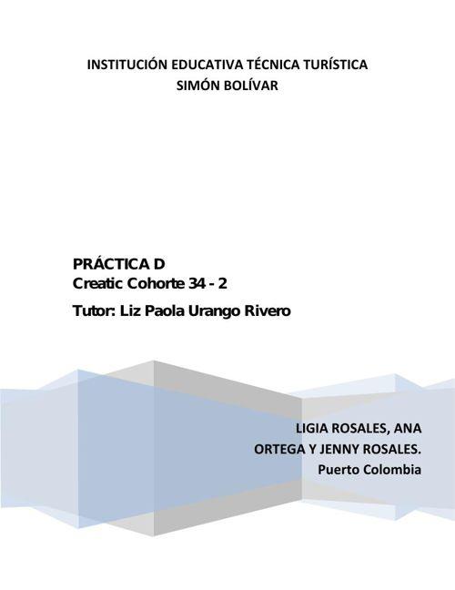 ACTIVIDAD  D Puerto Colombia Cohorte 34 - 2