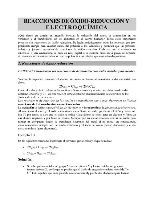 Redox y electroquímica