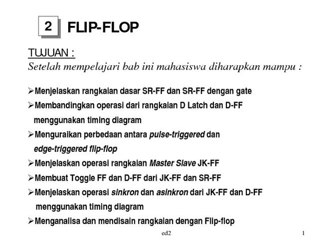 FLIP FLOP & MODUL ELEKTRO