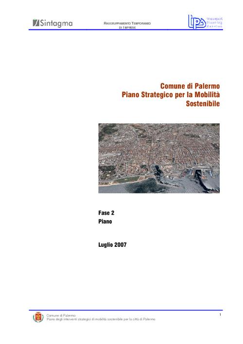 Piano Strategico di Mobilità Sostenibile di Palermo