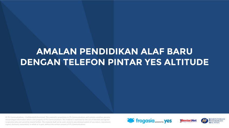 Amalan Pendidikan Alaf Baru Dengan Telefon Pintar Yes Altitude