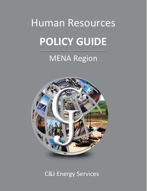 C&J Energy - Policy Guide - MENA Region