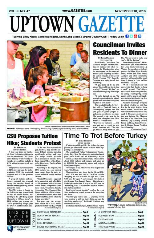 Uptown Gazette  |  November 18, 2016