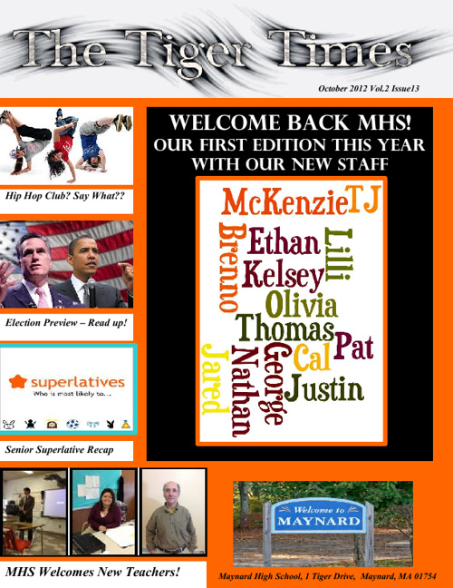 The Tiger Times - October 2012 Edition