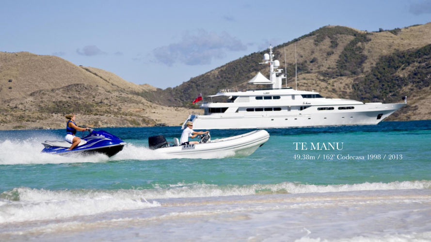 TE MANU 49m Codecasa superyacht for charter - brochure 2016