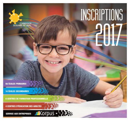 Cahier des inscriptions 2017