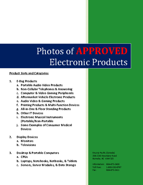 Electronics Recycling Program Manual