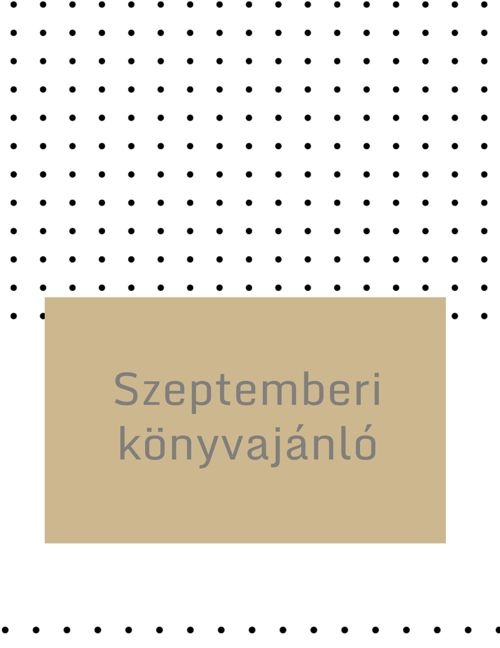 Szeptemberi könyvajánló