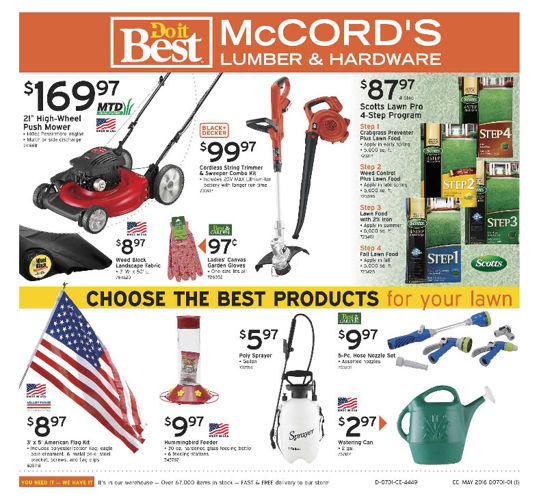 McCORD'S Do it Best - Current Flyer