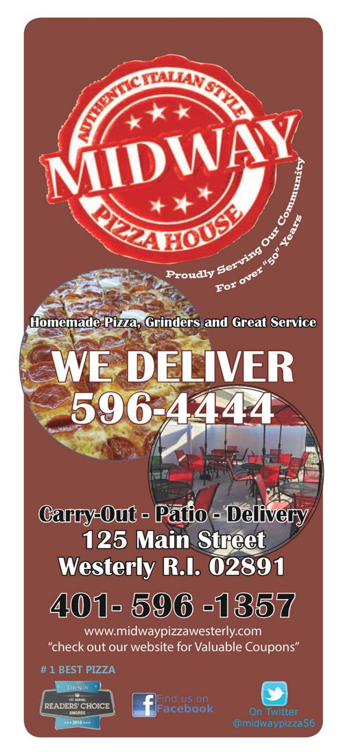 Midway Pizza Menu