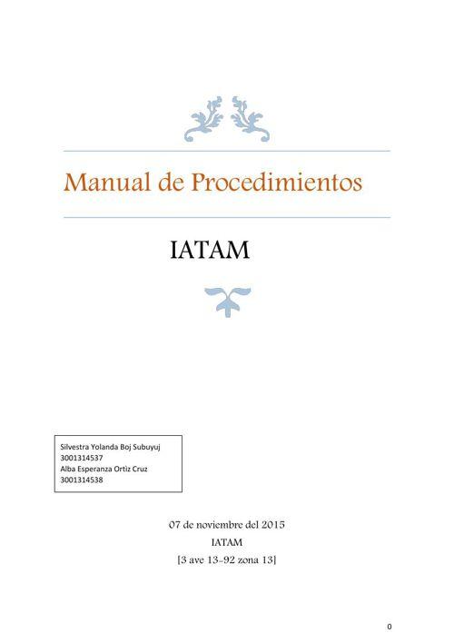 MANUAL DE PROCEDIMIENTOS...