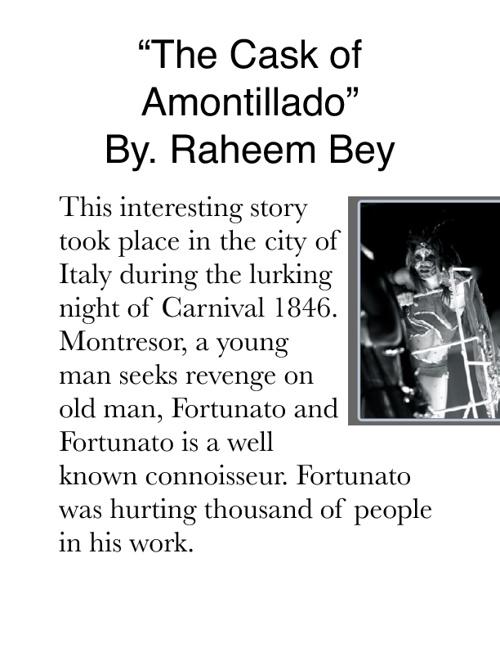 """""""The Cast of Amontillado"""""""