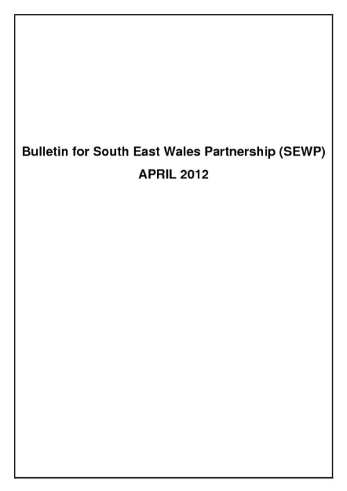 Bulletin for SEWP - April 2012