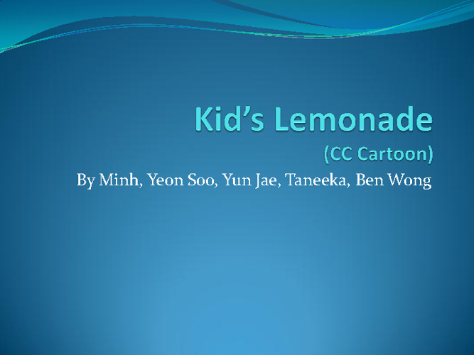 Kid's Lemonade (CC Cartoon)