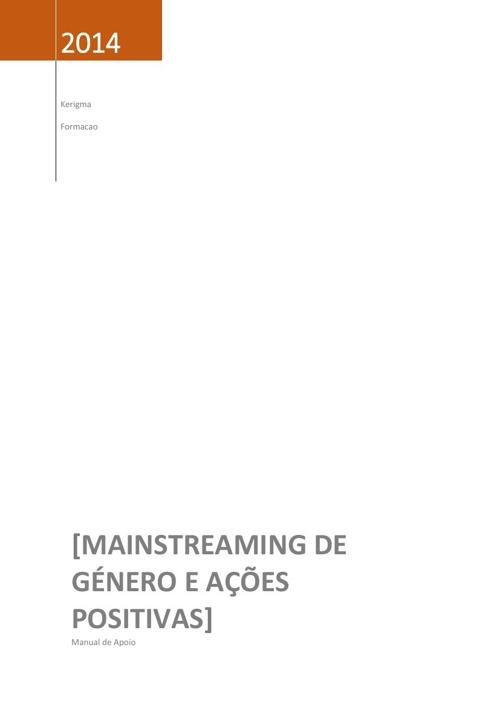 Manual_Mainstreaming