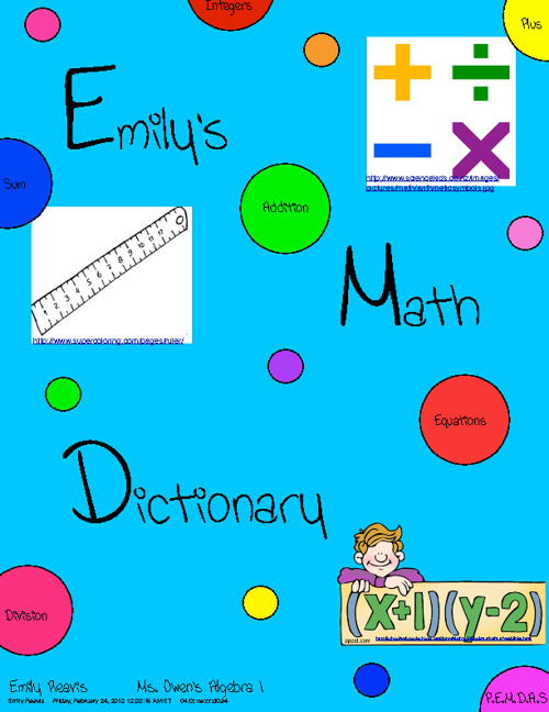 Emily's Math Dictionary