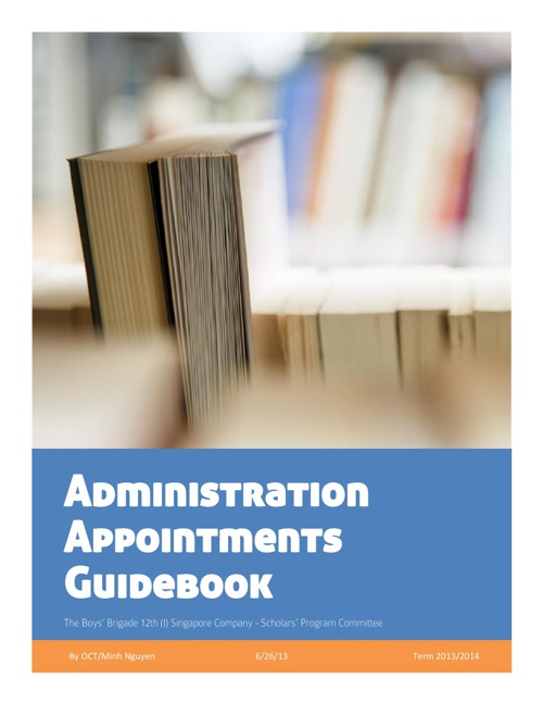 The Administration Appointment Guidebook 2013