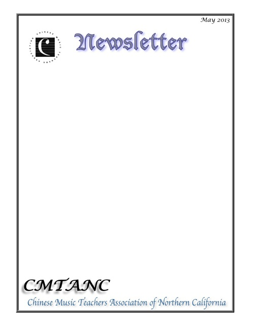 CMTANC Newsletter 052013