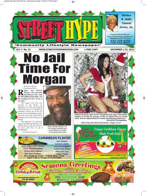 Street Hype Newspaper - December 1-31, 2012 issue