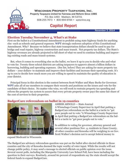 Capitol Report November 3rd, 2014